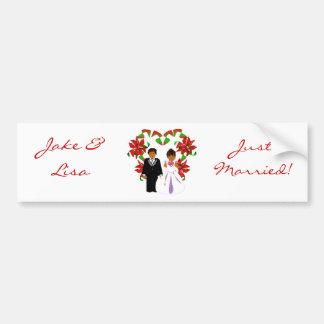 Christmas/December Just Married II Bumper Sticker