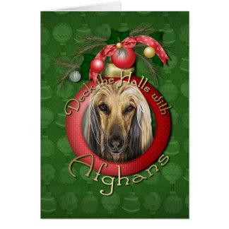 Christmas - Deck the Halls - Afghans Card