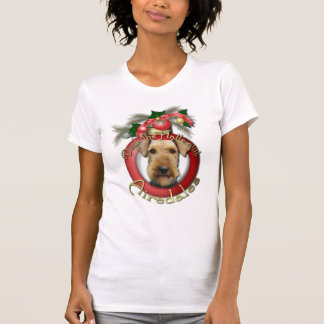 Christmas - Deck the Halls - Airedales T Shirt