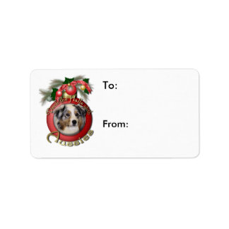 Christmas - Deck the Halls - Aussies Address Label