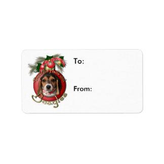 Christmas - Deck the Halls - Beagles Address Label