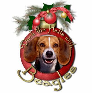 Christmas - Deck the Halls - Beagles Photo Sculpture Decoration
