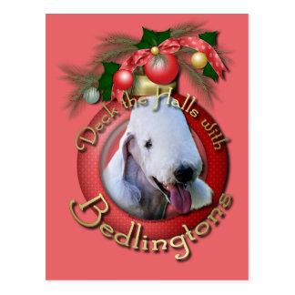 Christmas - Deck the Halls - Bedlingtons Postcard