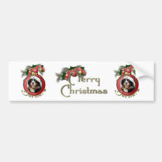 Christmas - Deck the Halls - Berners Bumper Sticker
