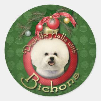 Christmas - Deck the Halls - Bichons Stickers
