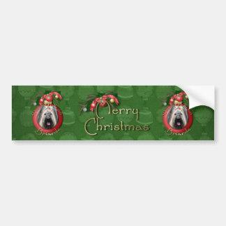 Christmas - Deck the Halls - Briard Bumper Sticker