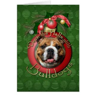 Christmas - Deck the Halls - Bulldogs Card