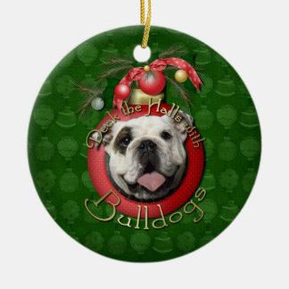 Christmas - Deck the Halls - Bulldogs Christmas Ornaments
