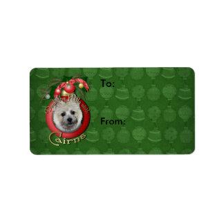 Christmas - Deck the Halls - Cairns - Teddy Bear Address Label