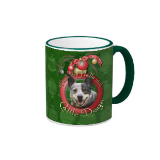 Christmas - Deck the Halls - Cattle Dogs Coffee Mug