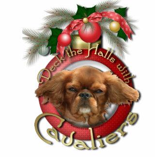 Christmas - Deck the Halls - Cavaliers - Ruby Photo Sculpture Decoration