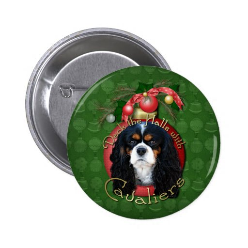 Christmas - Deck the Halls - Cavaliers - Tri-Color Buttons