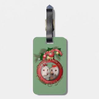 Christmas - Deck the Halls - Chablis & Shiraz Luggage Tag
