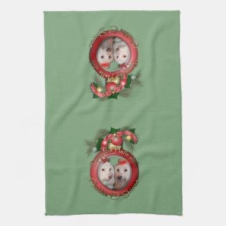 Christmas - Deck the Halls - Chablis & Shiraz Tea Towel