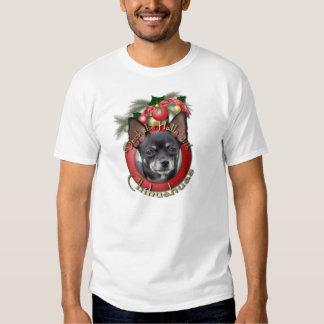 Christmas - Deck the Halls - Chihuahuas - Isabella Tee Shirt