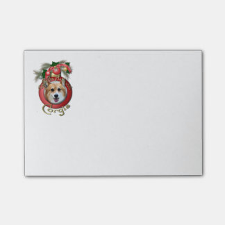 Christmas - Deck the Halls - Corgi Post-it Notes