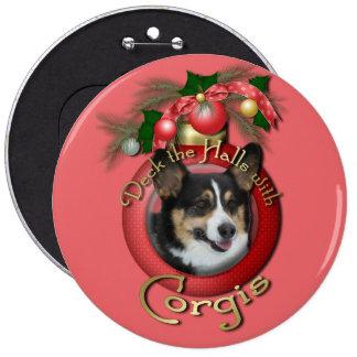 Christmas - Deck the Halls - Corgis Buttons