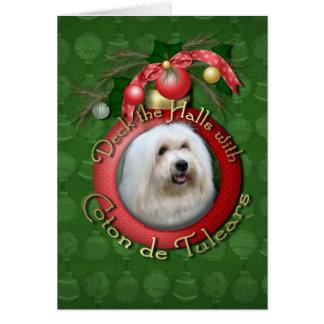 Christmas - Deck the Halls - Cotons Card