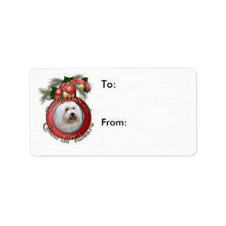 Christmas - Deck the Halls - Cotons Address Label