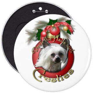 Christmas - Deck the Halls - Cresties Button