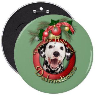 Christmas - Deck the Halls - Dalmatians Buttons