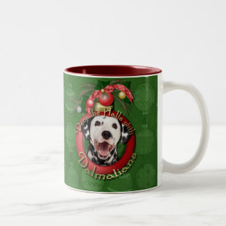 Christmas - Deck the Halls - Dalmatians Mugs