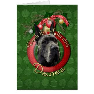 Christmas - Deck the Halls - Danes - Grey Card