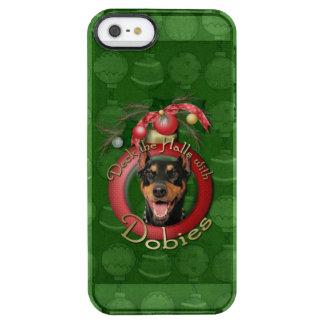 Christmas - Deck the Halls - Dobies - Megyan Clear iPhone SE/5/5s Case
