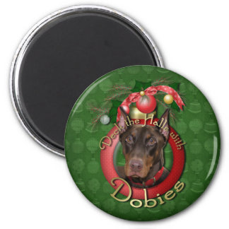 Christmas - Deck the Halls - Dobies - Rocky Magnets