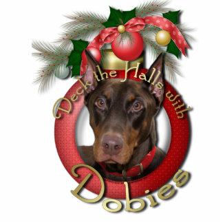 Christmas - Deck the Halls - Dobies - Rocky Photo Sculpture Decoration