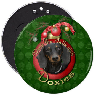 Christmas - Deck the Halls - Doxies Button