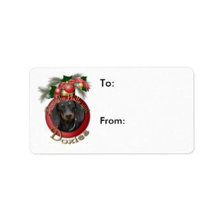 Christmas - Deck the Halls - Doxies Address Label