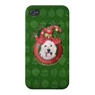 Christmas - Deck the Halls - GoldenDoodles - Daisy Case For iPhone 4
