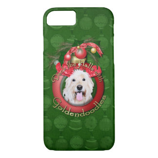 Christmas - Deck the Halls - GoldenDoodles - Daisy iPhone 7 Case
