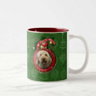 Christmas - Deck the Halls - Goldendoodles Mug