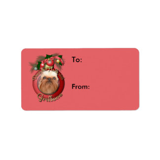 Christmas - Deck the Halls - Griffons Address Label