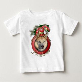 Christmas - Deck the Halls - Huskies - Copper T Shirt