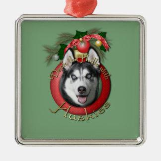Christmas - Deck the Halls - Huskies Christmas Tree Ornament