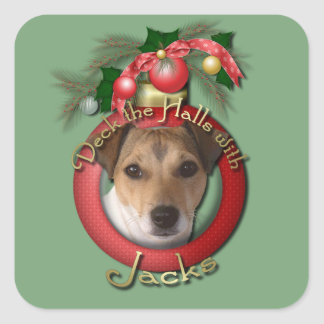 Christmas - Deck the Halls - Jacks Square Sticker