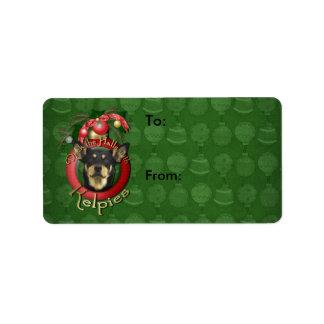 Christmas - Deck the Halls - Kelpies Address Label