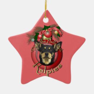 Christmas - Deck the Halls - Kelpies Ceramic Star Decoration
