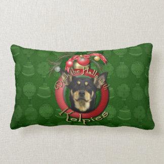 Christmas - Deck the Halls - Kelpies Throw Pillows