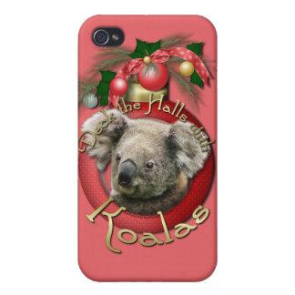 Christmas - Deck the Halls - Koalas iPhone 4 Covers