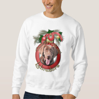 Christmas - Deck the Halls - Labradors - Chocolate Sweatshirt