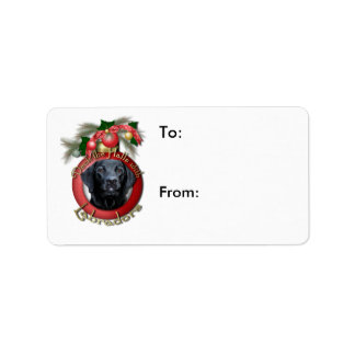 Christmas - Deck the Halls - Labradors - Gage Address Label