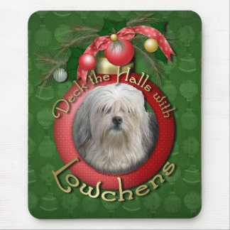 Christmas - Deck the Halls - Lowchens Mouse Pad