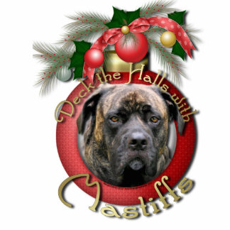 Christmas - Deck the Halls - Mastiffs - Cyclone Photo Sculpture Decoration