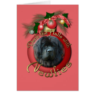 Christmas - Deck the Halls - Newfie Card