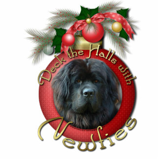 Christmas - Deck the Halls - Newfie Photo Sculpture Decoration