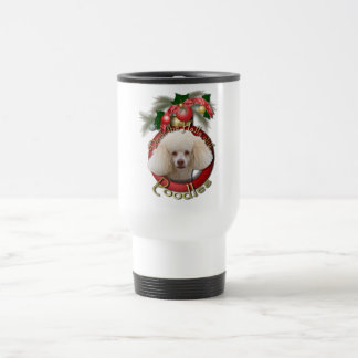 Christmas - Deck the Halls - Poodles - White Coffee Mugs
